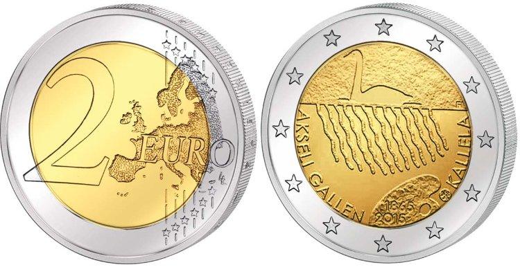 Один из многих экземпляров монеты номиналом 2 евро