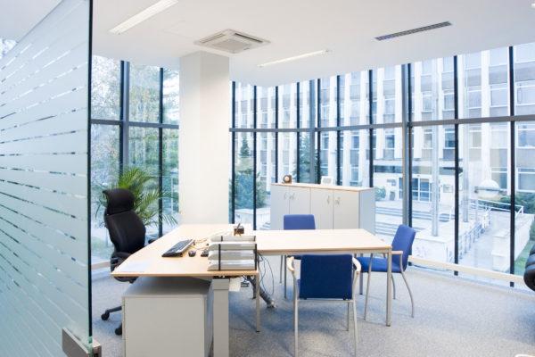 Внешнее и внутреннее состояние здания и офиса
